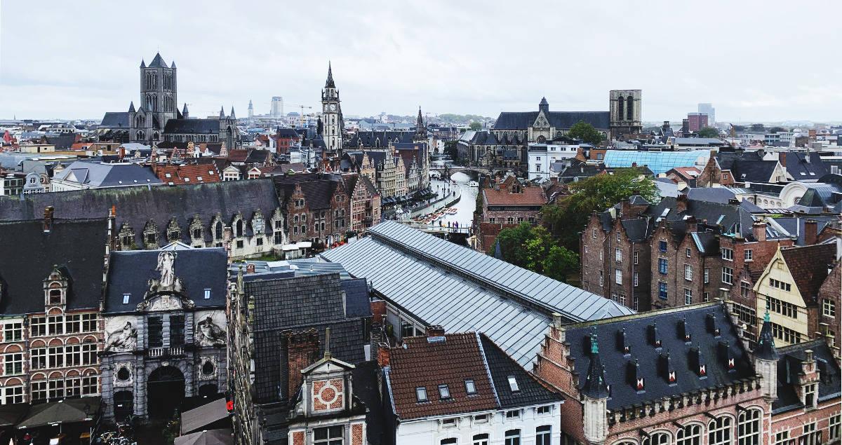 ghent belgium skyline