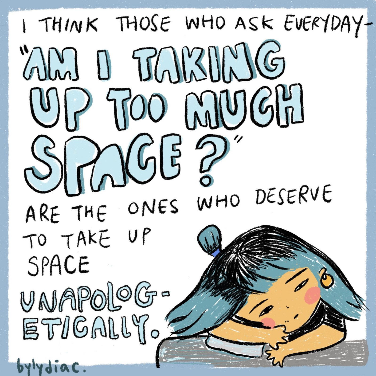 comic am i taking up too much space featuring asian girl