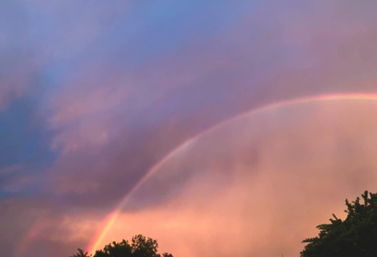 rainbow in post storm skies